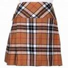 30 Inches Traditional Thompson Camel Tartan Highland Scottish Mini Billie Kilt Mod Skirt