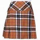 34 Inches Traditional Thompson Camel Tartan Highland Scottish Mini Billie Kilt Mod Skirt