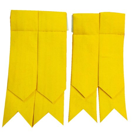 Brand New Scottish Kilt Hose Sock Flashes Yellow Cotton