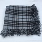 Gray Watch Scottish Kilt Tartan Fly Plaid Highland Kilt Gray Watch Fly plaid Shawl