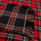 Traditional Black Stewart Tartan Fly Plaid Highland Scottish Kilts Flashes Garters