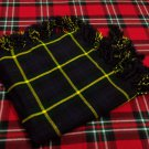 Traditional Gordon Tartan Fly Plaid Highland Scottish Kilts Flashes Garters