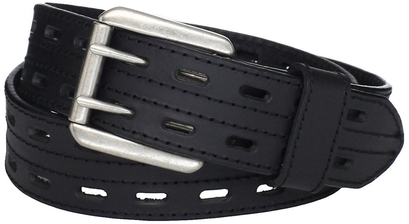 Size 32 Scottish Highland Black Kilt Belt Double Prong Leather Kilt Belt for Tartan & Utility Kilts.
