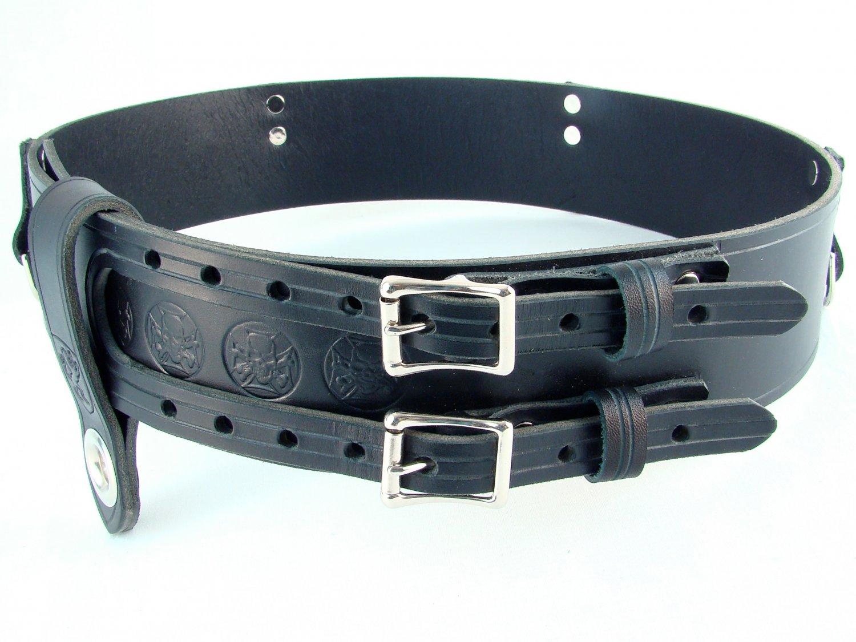 Size 32 Double Buckle Leather kilt Belt Thick Belt For Tartan and Utility kilts