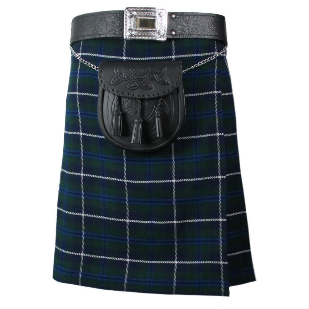 Blue Douglas Tartan Kilt Traditional Highlands, 32 Size Blue Douglas 8 Yards Tartan Kilt