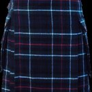 60 Size Highland Utility Kilt in Mackenzie Tartan Scottish Cargo Tartan Kilt for Active Men