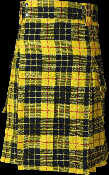 46 Size Highland Utility Kilt in McLeod of Lewis Tartan Scottish Cargo Tartan Kilt for Active Men