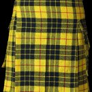 52 Size Highland Utility Kilt in McLeod of Lewis Tartan Scottish Cargo Tartan Kilt for Active Men