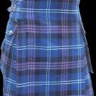 26 Size Highland Utility Kilt in Pride of Scotland Tartan Scottish Cargo Tartan Kilt for Active Men