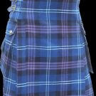 28 Size Highland Utility Kilt in Pride of Scotland Tartan Scottish Cargo Tartan Kilt for Active Men