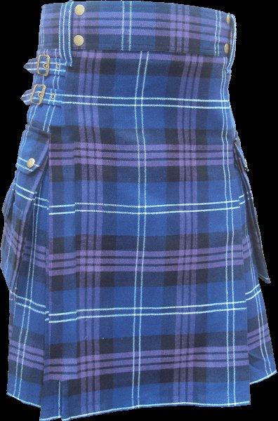52 Size Highland Utility Kilt in Pride of Scotland Tartan Scottish Cargo Tartan Kilt for Active Men
