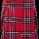 56 Size Highland Utility Kilt in Royal Stewart Tartan Scottish Cargo Pocket Kilt for Active Men