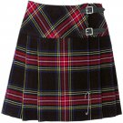 Ladies Black Stewart Tartan Mini Billie Kilt Mod Skirt sz 28 waist Girls Mini Billie Skirt