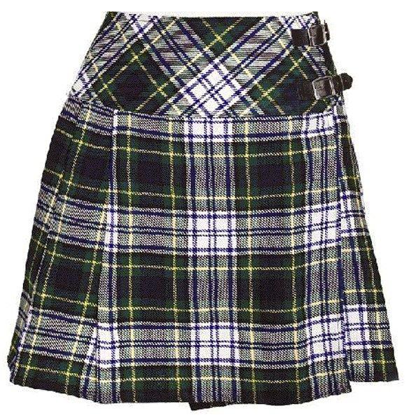 Ladies Dress Gordon Tartan Mini Billie Kilt Mod Skirt sz 44 waist Girls Mini Billie Skirt