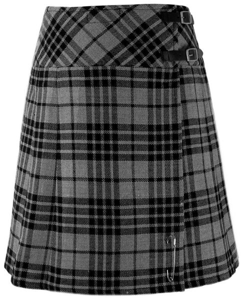 Ladies Gray Watch Tartan Mini Billie Kilt Mod Skirt sz 34 waist Girls Mini Billie Skirt