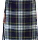 Ladies Knee Length Kilted Skirt, 26 sz Scottish Billie Kilt Mod Skirt in Dress Gordon Tartan