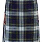 Ladies Knee Length Kilted Skirt, 28 sz Scottish Billie Kilt Mod Skirt in Dress Gordon Tartan