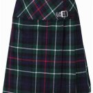 Ladies Knee Length Kilted Long Skirt, 26 sz Scottish Billie Kilt Mod Skirt in Mackenzie Tartan
