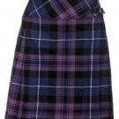 Ladies Billie Pleated Kilt 34 sz Knee Length Long Skirt in Pride of Scotland Tartan