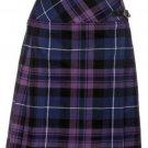 Ladies Billie Pleated Kilt 48 sz Knee Length Long Skirt in Pride of Scotland Tartan