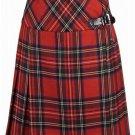 Ladies Billie Pleated Kilt 54 sz Knee Length Long Skirt in Royal Stewart Tartan