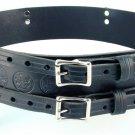 Double Buckle Belt Size 34 Celtic Knot Belt Kilt Belt Leather Belt Black Belt
