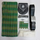 5 Pieces Irish National Traditional Tartan Kilt outfit Made to Measure Size 32