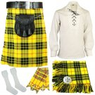 5 Pcs McLeod of Lewis Traditional Tartan kilt-Skirt Deal outfit Made to Measure Size 32