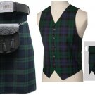 8 in 1 Deal 5 Pieces Black Watch Traditional Tartan outfit Made to 38 Measure