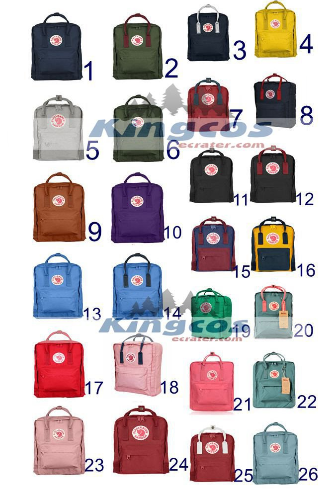 Outdoor 26colors Canvas Backpack School Bag Tote bag Sport Daypack free shipping