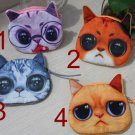 New Cute Cat Face Zipper Case Coin Purse Wallet Makeup Buggy Bag Pouch
