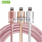 0.25M/1M Metal Braided 2A Lightning USB Charger Cable For iPhone 5 5S 6 6s Plus
