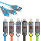2 in 1 Micro USB Sync Data Charger Adapter Cable For Samsung /Iphone 55s 6 Plus
