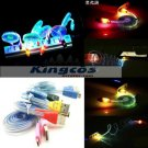 LED USB Data Sync Charger Charging Cable Line Cord for Android/ 5s 6 6p