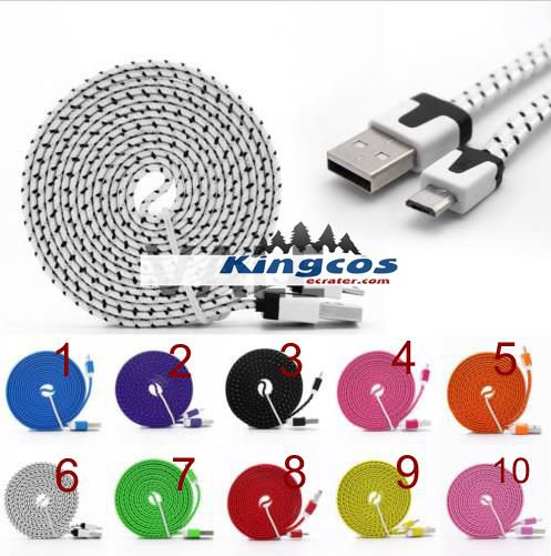 Noodle Braided Sync USB Data Charger Cable Rope Cord for iPhone 5S 5 6 6S Plus