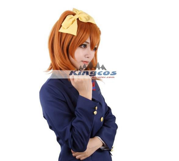 40cm Love Live School Idol Project Kousaka Honoka Short Synthetic Wig orange