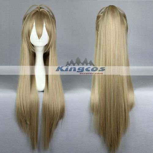 Anime Amagi Brilliant Park Figure Cosplay Sento Isuzu Women Girls Long Straight Blonde Wig