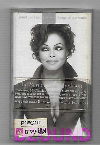 JANET JACKSON - DESIGN OF A DECADE  - THAI MUSIC CASSETTE 1995
