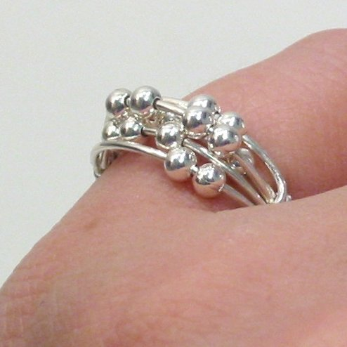 Itty Bitty Tiny Bubbles - Sterling Silver Wire Wrap Ring