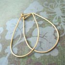 Simple Classic Golden Hoops - medium gold filled earrings