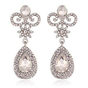 Chandelier Cubic Drop Bridal Earrings Dangling Wedding Earrings Crystal Earrings