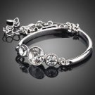 Platinum Plated 3pcs Stellux Austrian Crystal Quality Fashion  Jewelry Bracelet