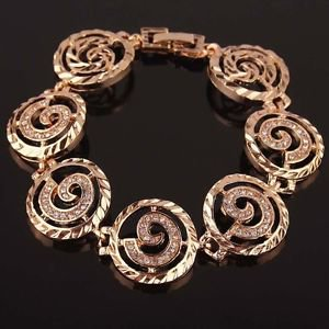 Costume Jewellery 14K Gold Plated Chain&Link Bracelets