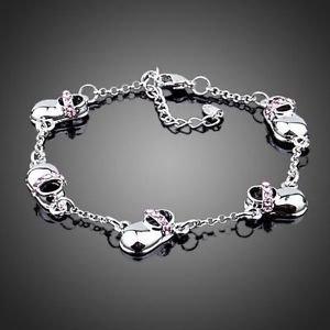 Charm Bracelet  Fashion Bracelet Gold Plated Stellux Austrian Crystal Bracelet