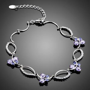 Purple Fashion Bracelet Swiss High Quality Cubic Zirconia Purple Bracelet