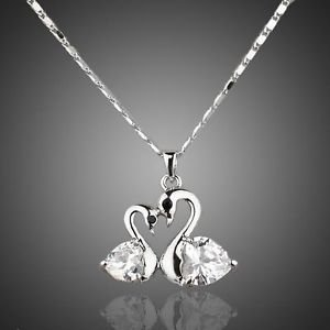 Costume Jewellery  Platinum Plated Stellux Austrian Crystal Pendant necklace
