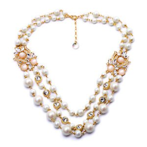 Bridal Pearl Necklace Chunky Necklace Statement Pearl Necklace Vintage Pearls