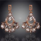 Costume Jewellery Sparkling 18K Gold Plated Austrian Crystal Drop Earrings