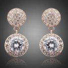 Rose Gold Bridal Earrings Cubic Zirconia  Austrian Rhinestone Wedding Earrings