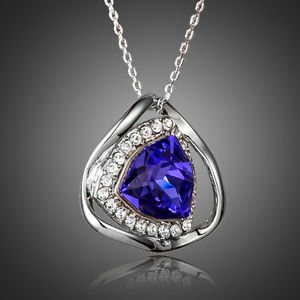 Purple Fashion Necklace Blue Stellux Austrian Crystal Pendant Fashion Necklace